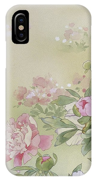 Peony iPhone Case - Syakuyaku Crop I by MGL Meiklejohn Graphics Licensing