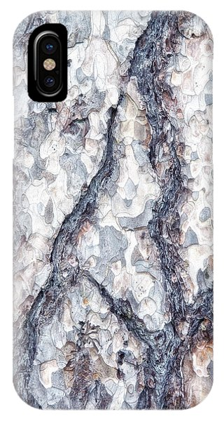 Weathered iPhone Case - Sycamore Bark Abstract by Tom Mc Nemar
