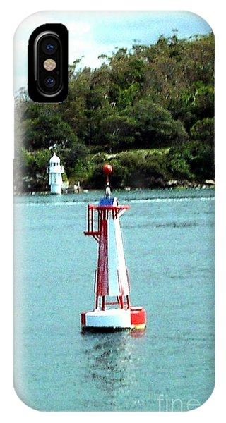 Sydney Buoy And Lighthouse Phone Case by John Potts