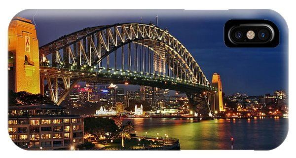 Sydney Harbour Bridge By Night IPhone Case