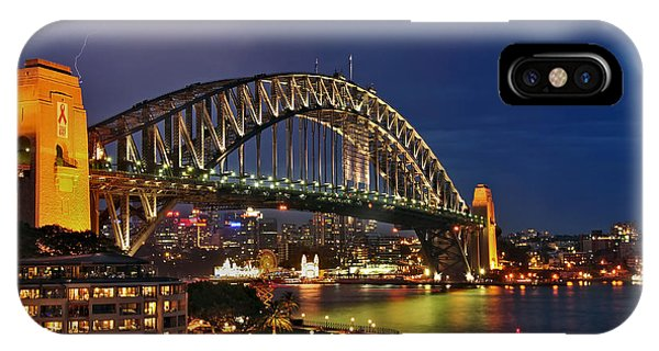 Sydney Harbour Bridge By Night IPhone Case