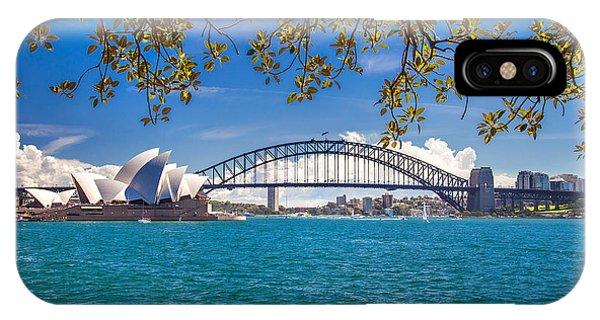 Business iPhone Case - Sydney Harbour Skyline 2 by Az Jackson