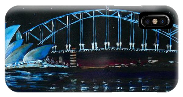 Sydney Opera House And Bridge At Night IPhone Case
