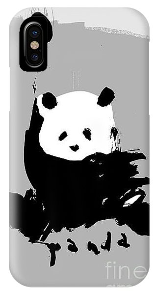 Celebration iPhone Case - Symbolic Image Of A Panda On A Gray by Dmitriip