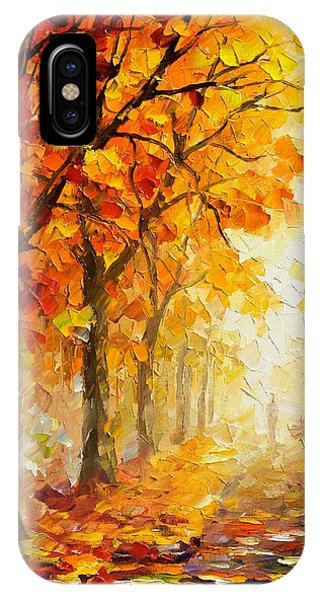 Autumn iPhone Case - Symbols Of Autumn - Palette Knife Oil Painting On Canvas By Leonid Afremov by Leonid Afremov