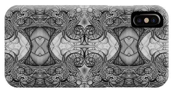 Symmetry  In Black And White IPhone Case