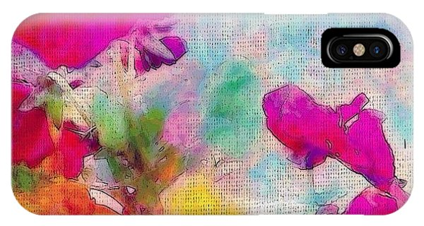 Flower iPhone Case - synchronicity... #digitalart With by Robin Mead