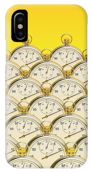 Synchronised Stopwatches Phone Case by David Parker