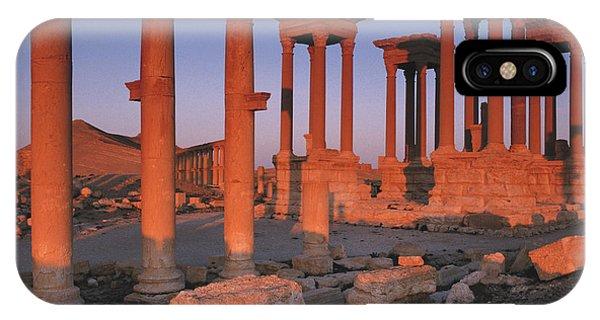Syria, The Great Tetra Pylon At Palmyra Phone Case by Steve Roxbury