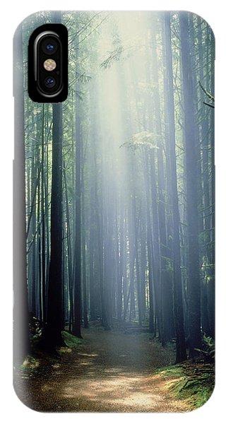 T. Bonderud Path Through Trees In Mist IPhone Case