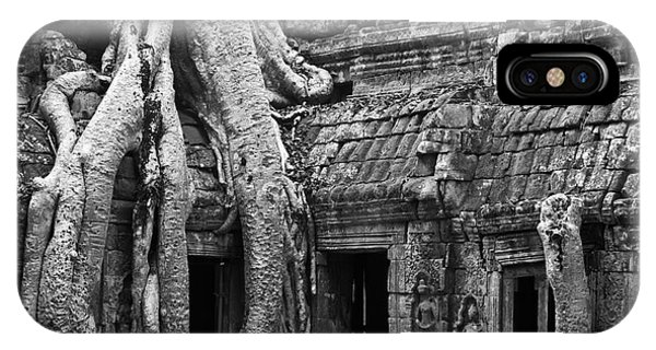 Ta Prohm Roots And Stone 01 IPhone Case