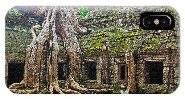 Ta Prohm Temple Ruins Phone Case by Dennis Cox