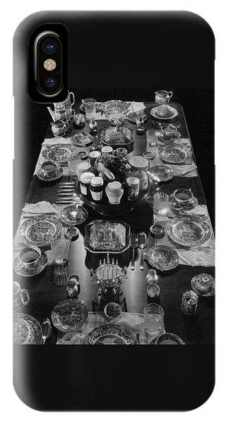 Table Settings On Dining Table IPhone Case