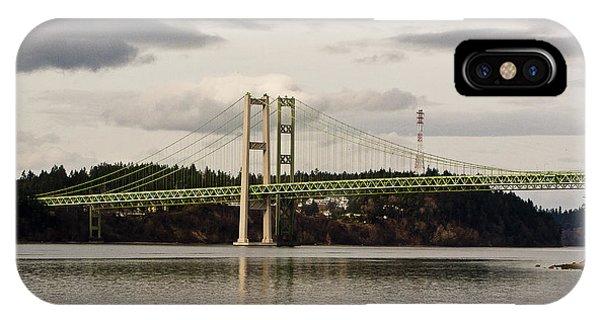 Tacoma Narrows Bridge II Phone Case by Ron Roberts