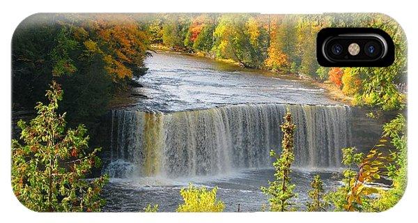 Tahquamenon Falls In October IPhone Case