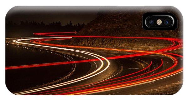 Tail Light Trails Phone Case by Joe Hudspeth