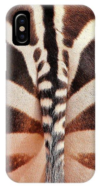 Tailing A Zebra IPhone Case