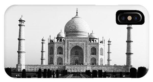 Taj Mahal Bw IPhone Case