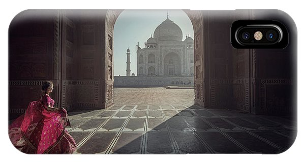Palace iPhone X Case - Tajmahal by Sarawut Intarob