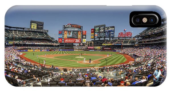 New York Mets iPhone Case - Take Me Out To The Ballgame by Evelina Kremsdorf