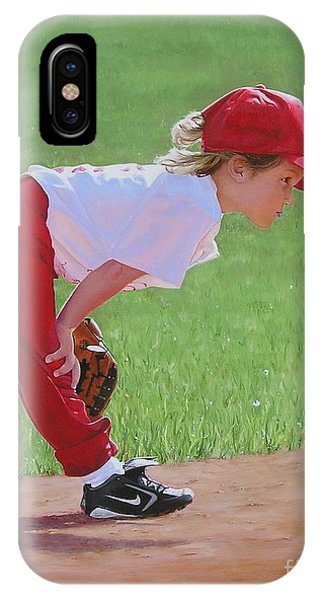 Taking An Infield Position IPhone Case