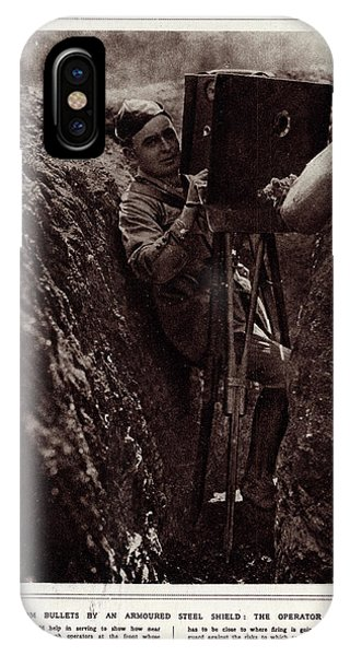 Taking Film  In The Battle Fields Phone Case by Mary Evans Picture Library