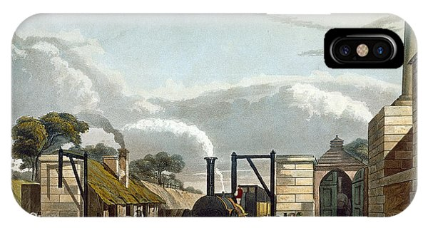 Passenger Train iPhone Case - Taking In Water At Parkside, Plate 13 by Thomas Talbot Bury