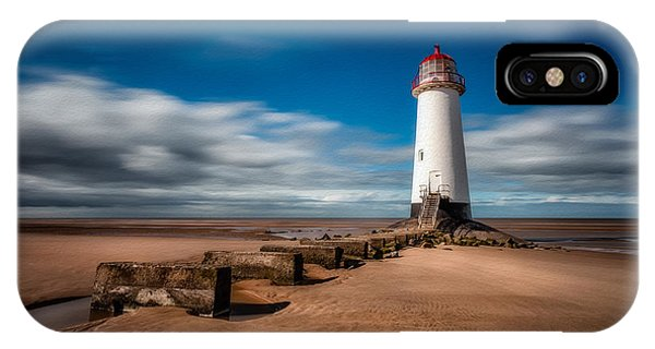 Navigation iPhone Case - Talacre Beach by Adrian Evans