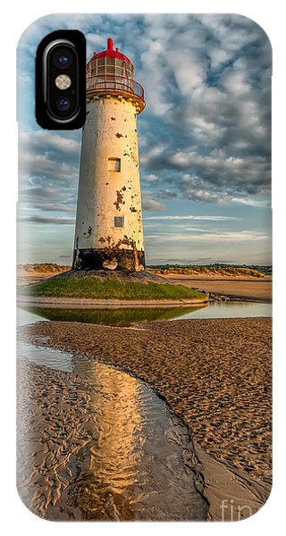 Navigation iPhone Case - Talacre Lighthouse Sunset by Adrian Evans