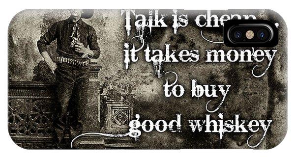Talk Is Cheap Phone Case by Robert Hudnall