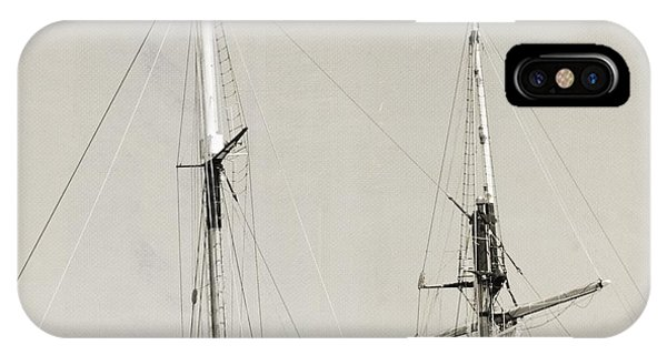 Tall Ship At Dock IPhone Case