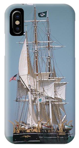 Tall Ship Charles W Morgan Phone Case by Dapixara Art