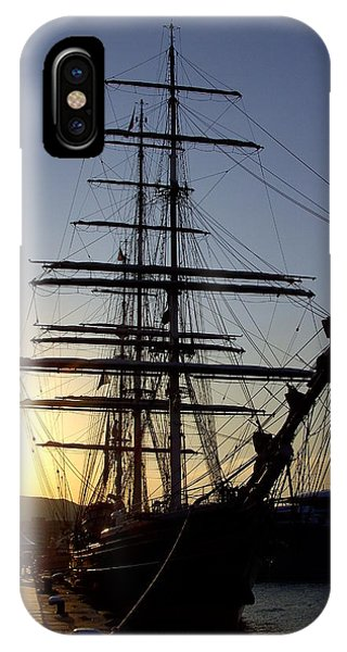 Tall Ship In Ibiza Town IPhone Case