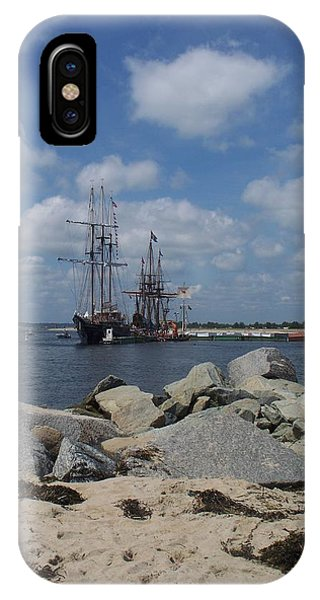 Tall Ships In The Distance Phone Case by Rosanne Bartlett