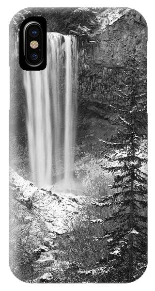 Tamanawas Falls In Winter IPhone Case