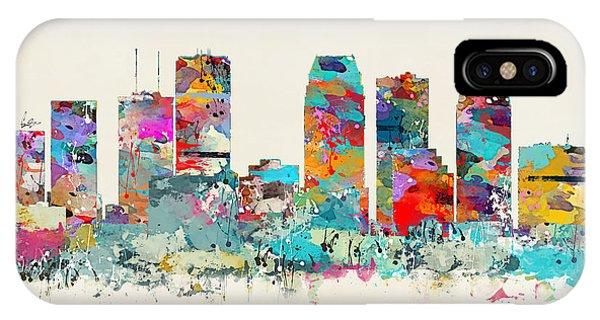 Florida iPhone Case - Tampa Florida Skyline by Bri Buckley