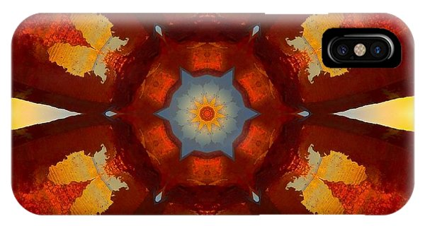 Tangerine Sunset Crystal Mandala IPhone Case