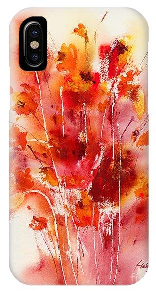 Poppies iPhone Case - Tangerine Tango by Hailey E Herrera