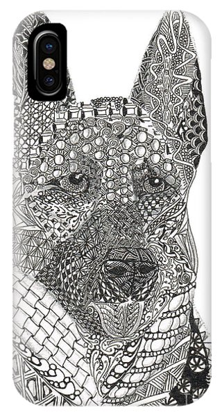 Tangled German Shepherd IPhone Case
