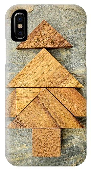 tangram Christmas tree IPhone Case