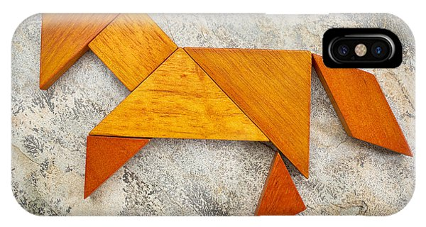 Tangram Horse Abstract IPhone Case