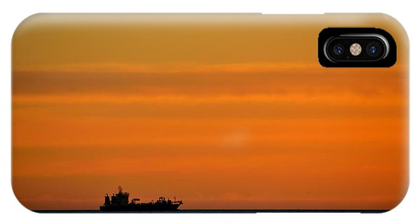 Freighter Off Montevideo IPhone Case