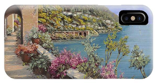 Lake iPhone Case - Tanti Fiori Sulla Terrazza by Guido Borelli
