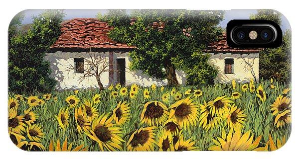 Sunflower iPhone X / XS Case - Tanti Girasoli Davanti by Guido Borelli