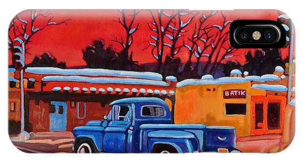 Cobalt Blue iPhone Case - Taos Blue Truck At Dusk by Art West