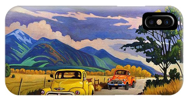 Taos Joy Ride With Yellow And Orange Trucks IPhone Case