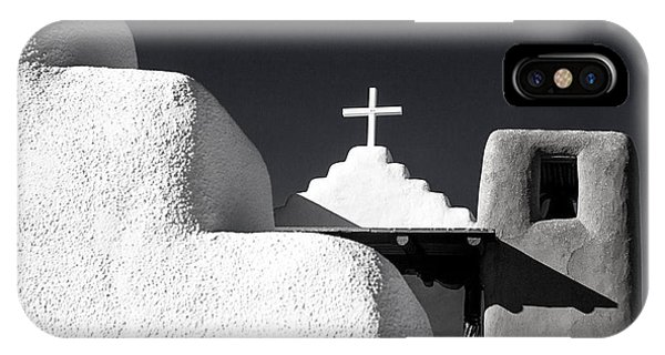 Taos Pueblo Chapel IPhone Case