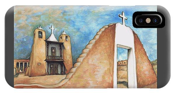Taos Pueblo New Mexico - Watercolor Art IPhone Case