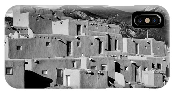 Taos Pueblo North IPhone Case