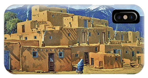 Aztec iPhone Case - Taos Pueblo by Randy Follis